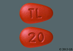 Red Oval Tablet Tl And 20 - Brintellix 20mg Tablet