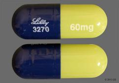 Blue And Green Lilly 3270 60Mg - Duloxetine 60mg Delayed-Release Capsule