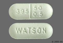 Green Oblong Tablet Watson And 395 50 0.5 - Pentazocine Hydrochloride/Naloxone Hydrochloride 50mg-0.5mg Tablet