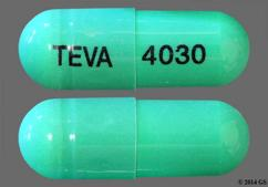 Green Capsule Logo4030 Logo4030 And Teva 4030 - Indomethacin 50mg Capsule