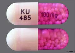 Purple And White Capsule Ku 485  100Mg - Verapamil Hydrochloride 100mg Controlled-Onset Extended-Release Capsule