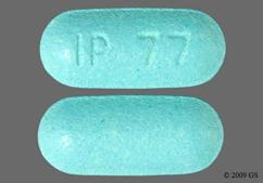Blue Oblong Tablet Ip 77 - Esterified Estrogens/Methyltestosterone 0.625mg-1.25mg HS Tablet