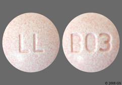Peach Round Tablet Ll And B03 - Lisinopril/Hydrochlorothiazide 20mg-25mg Tablet