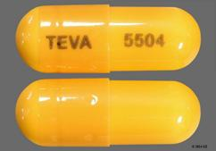 Orange Teva 5504 - Olanzapine and Fluoxetine 6mg-25mg Capsule