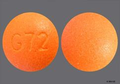 Orange Round G72 - Oxymorphone Hydrochloride 10mg Extended-Release Tablet