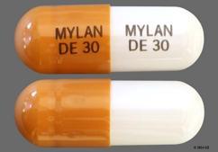 White And Brown Capsule Mylan De 30 Mylan De 30 - Dexmethylphenidate Hydrochloride 30mg Extended-Release Capsule