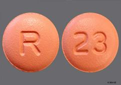 Red Round Tablet R And 23 - Donepezil Hydrochloride 23mg Tablet
