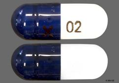 Blue And White Capsule X 02 - Duloxetine 30mg Delayed-Release Capsule