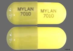 Green And Yellow Capsule Mylan 7010 Mylan 7010 - Loxapine Succinate 10mg Capsule