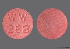 Red Round Tablet Ww 268 - Lisinopril 20mg Tablet