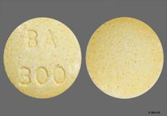 Yellow Round Tablet Ba 300 - Bupap 50mg-300mg Tablet
