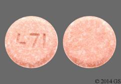 Brown Round Tablet 471 - Telmisartan 20mg Tablet