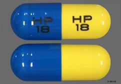 Yellow And Blue Capsule Hp 18 Hp 18 - Tetracycline Hydrochloride 500mg Capsule