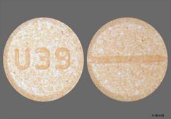 Orange Round Tablet U39 - Dextroamphetamine Sulfate 10mg Tablet