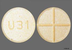 Orange Round Tablet U31 - Amphetamine/Dextroamphetamine Salts 30mg Tablet