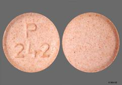 Pink Round Tablet P 242 - Repaglinide 2mg Tablet