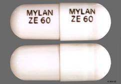 White Capsule Mylan Ze 60 Mylan Ze 60 - Ziprasidone Hydrochloride 60mg Capsule