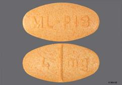 Orange Oval 4 Mg And Ml-P18 - Doxazosin Mesylate 4mg Tablet