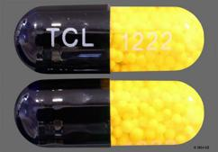 Yellow And Blue Capsule Tcl 1222 - Nitroglycerin 6.5mg Extended-Release Capsule