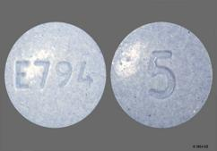 Blue Round Tablet E794 And 5 - Oxymorphone Hydrochloride 5mg Tablet