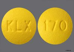 Yellow Round Tablet Klx And 170 - Fenofibrate 54mg Tablet