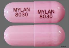 Pink Mylan 8030 Mylan 8030 - Lansoprazole 30mg Delayed-Release Capsule