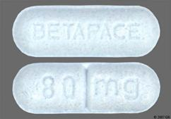 Blue Oblong Tablet 80Mg And Betapace - BETAPACE 80mg Tablet