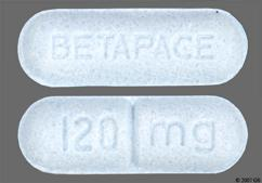 Blue Oblong Tablet 120 Mg And Betapace - BETAPACE 120mg Tablet
