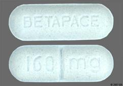 Blue Oblong Tablet 160Mg And Betapace - Betapace 160mg Tablet