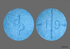 Blue Round Tablet 1 0 And Dp - Adderall 10mg Tablet