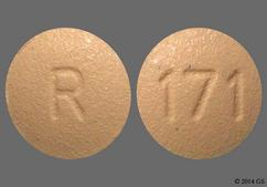 Beige Round Tablet R And 171 - Finasteride 1mg Tablet