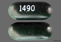 Green Oblong Tablet 1490 - Esterified Estrogens/Methyltestosterone 1.25mg-2.5mg Tablet