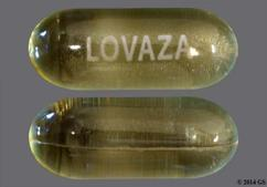 Yellow Oblong Capsule Lovaza - Omega-3-Acid Ethyl Esters 1g Softgel Capsule