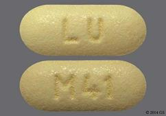 Yellow Oblong Tablet M41 And Lu - Losartan Potassium/Hydrochlorothiazide 50mg-12.5mg Tablet