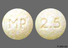 Yellow Round Mp And 2.5 - Vecamyl 2.5mg Tablet