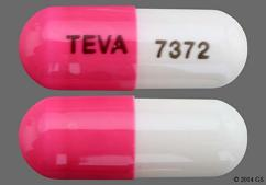 Pink And White Teva 7372 And 93 7372 93 7372 - Amlodipine Besylate/Benazepril Hydrochloride 5mg-20mg Capsule