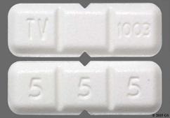 White Rectangular Tablet 5 5 5, Tv 1003, And 93 1003 - Buspirone Hydrochloride 15mg Tablet