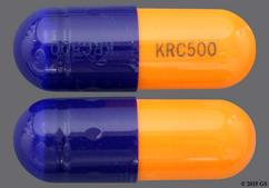 Blue And Orange Capsule Krc500 Krc500 - Cefaclor 500mg Capsule