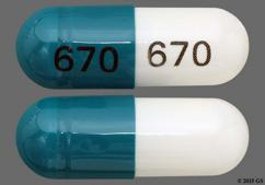 Green And White Capsule 670 670 - Diltiazem Hydrochloride 180mg Extended-Release Capsule