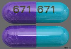 Green And Purple Capsule 671 671 - Diltiazem Hydrochloride 240mg Extended-Release Capsule