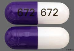 Purple And White Capsule 672 672 - Diltiazem Hydrochloride 300mg Extended-Release Capsule