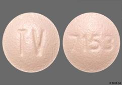 Pink Round Tablet Tv, 93, And 7153 - Simvastatin 10mg Tablet