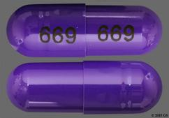 Purple Capsule 669 669 - Diltiazem Hydrochloride 120mg Extended-Release Capsule