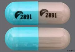 Blue And Gray Capsule Logo 2891 Logo 2891 - Duloxetine 30mg Delayed-Release Capsule
