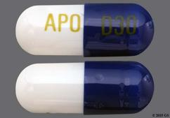 Blue And White Capsule Apo D30 - Duloxetine 30mg Delayed-Release Capsule
