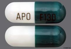 Green And White Apo F130 - Fenofibrate (Micronized) 130mg Capsule