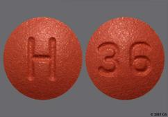 Brown Round H And 36 - Finasteride 1mg Tablet