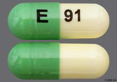 Green And White E 91 - Fluoxetine Hydrochloride 20mg Capsule