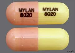 Pink And White Mylan 8020 Mylan 8020 - Fluvastatin Sodium 20mg Capsule