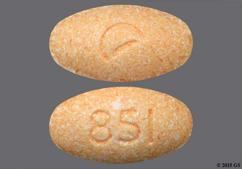 Orange Oval Tablet Logo And 851 - Guanfacine 2mg Extended-Release Tablet